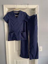 Grey'S Anatomy Women's Xs Top & Small Pants Navy Blue Scrub Set Barco