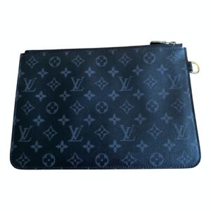 LOUIS VUITTON X FRAGMENT MONOGRAM ECLIPSE XL POCHETTE ETUI DOCUMENT HOLDER RAR!