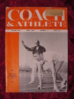 COACH And ATHLETE Magazine June 1963 Francis Cretzmeyer Roger Kerr IOWA