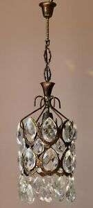 French Empire Lantern Vintage Crystal Chandelier, Lighting, Light Lamp Pendant