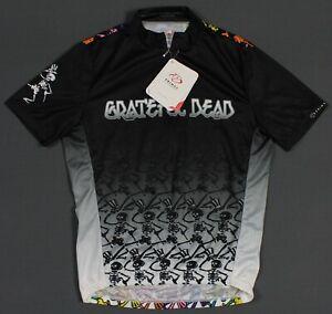 New Grateful Dead Dancing Skeletons Primal Cycling Jersey Mens Medium