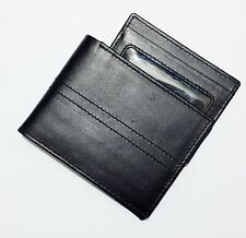 New Men's Real Leather Slim Wallets Bifold With ID Card Holder Wallet Purse