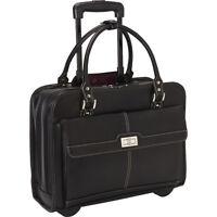 Samsonite Women's Laptop Mobile Office - Black Wheeled Business Case NEW
