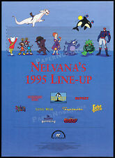 NELVANA 1995 Line-Up__Orig. Trade AD promo_poster__Magic School Bus_Eek! The Cat