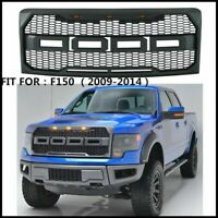 For 2009-2014 Ford F150 Raptor Style Conversion Front Hood Grille W/ LED Grill