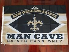 New Orleans Saints Man Cave 3x5 Flag. US seller. Free shipping within the US