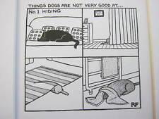 Funny Dog Cartoon Print by Rupert Fawcett - Dogs Hiding  - 12