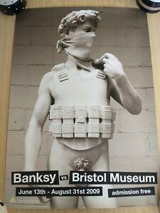 BANKSY VS BRISTOL MUSEUM - MICHELANGELO'S DAVID SUICIDE BOMBER POSTER A2
