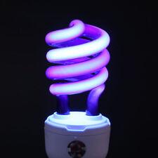 E27 15W Ultraviolet Fluorescent Blacklight Screw Lamp Light Bulb Sterilize