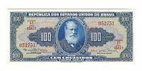 100 Cruzeiro Brasilien 1964 UNC C036 / P.170c - Brazil Banknote