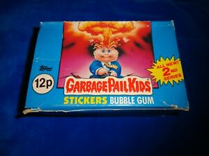 1985 Topps Garbage Pail Kids Series 2 UK Stickers Empty Display Box -no packs