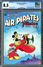 Air Pirates Funnies #1 (Hell Comics 1971) CGC 8.5 White! Rare, Banned Sales!