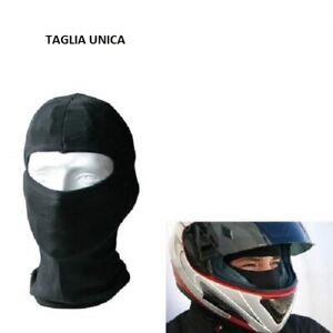 SOTTOCASCO BALACLAVA PASSAMONTAGNA ELASTICIZZATO MOTO SCOOTER TAGLIA UNICA CASCO