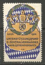 Germany Bavarian Community Officials Central Association poster stamp/label