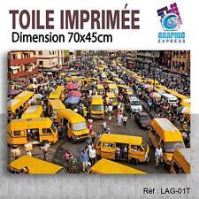 70x45cm - TOILE IMPRIMÉE- TABLEAU MODERNE DECORATION MURALE - LAGOS - LG-01T