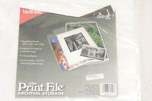 16x20-BAG (100) PrintFile Digital Presentation Pockets 4mil - NEW Old Stock M100