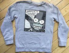 H&M Sweatshirt grau Simpsons Gr. 10-12J 146 152 Watch it Dude