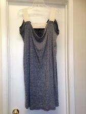 ZERO + MARIA CORNEJO Ribbed 100% Cotton Sleeveless Dress Draped Neck Sz Large