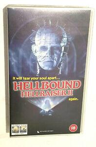1988 Hellbound Hellraiser ll 2 VHS Horror.