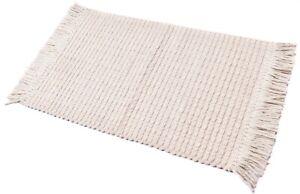 2X3. Area Rug Indoor/Outdoor Mat Gypsy Rug White Floor Runner Washable Wool Rug