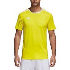 Mens Adidas Entrada 18 Climalite Short Sleeve T Shirt Top Football Size S M L XL