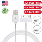 30-Pin USB Sync Charging Data Cable For iPhone 4 4S iPod iPad BUY 3 GET 2 FREE `