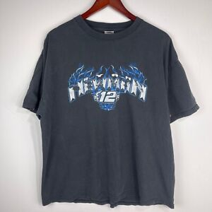 Vintage Ryan Newman 12 Alltel Racing NASCAR XL Black T Shirt Penske