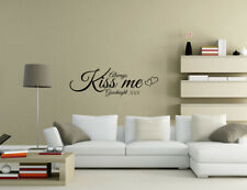 Always Kiss Me Goodnight Bedroom Wall Quotes Wall Stickers Wall Art UK 32c