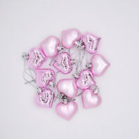 48 Pcs 4.5cm Heart Shaped Ornaments Valentine's Day Heart Shaped Baubles Romanti
