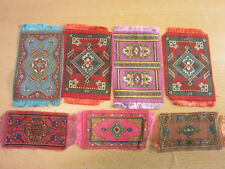 Lot of 7 antique small Tobacco Felts oriental rugs