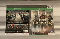 SHIPS SAME DAY Rare GameStop *Display Box Only For Honor Xbox One Cover Art Only