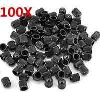 100pcs Black Plastic Auto Car Bike Motorcycle Truck wheel Tire Valve Stem Caps