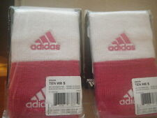 NWT ADIDAS 2PK 1 pair WHITE/PINK  Sweatbands WRISTBANDS TERRY LOOP O05554 NEW