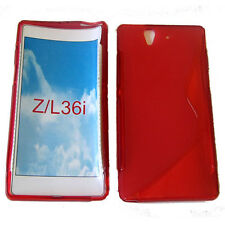 S-Line Antichoc Gel Case Cover For Sony Xperia Z lt36i l36i l36h c6603 Red