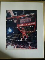 Michael Jordan 88 Slam Dunk Auto 8x10 W/COA Framed Very Rare Large Auto Gold!!!!