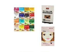 42 pcs feuille coréenne de masque de visage d'essence, ensemble de soin de peau