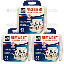 0ec7c23c60eb 3 Pack 42 PC Essential First Aid Kit Emergency Bag Home Car Office Travel  Size