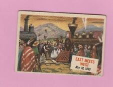 1954 Topps Scoop #44 Single Print # Railroads Span Continent