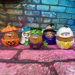 Lot of 5 1992 Vintage McDonald's McNugget Buddies Halloween Figures Happy Meal