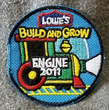 """LMH PATCH Badge  2009 TIME CAPSULE Wooden LOWES Build Grow Kid/'s Clinic 2-3//16/"""""""