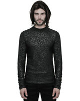 Punk Rave Mens Gothic Top Black Damask Long Sleeve T Shirt Romantic Vampire VTG
