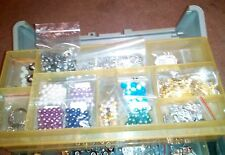 Big lot of beads and charms for jewlery making