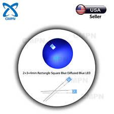 100pcs 2x3x4mm Square Rectangle Diffused Blue Bright Light Lamp Led Diodes Bulb