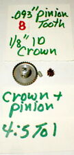 4.5:1 Crown and Pinin Gear Set by GARVIC Vintage Original 1960's #703 NOS