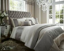 Cream and Latte Detroit Bedding with Pleated Panel