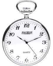 Sterling Silver Pocket Watch Open Faced - Swiss Quartz Movement - Luxury Gift