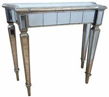 Mirrored Console Dressing Table Desk Silver Venetian Glass Furniture Modern