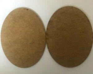 2mm MDF Laser Cut Oval Bases 150mm x 95mm Pack Of 2