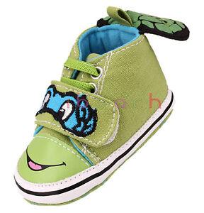 Infant Toddler Ninja Turtles Baby Boy Crib Shoes Size Newborn to 18 Months