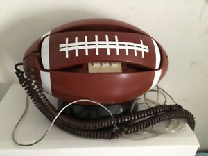 Vintage Football Telephone Pulse Tone Switchable Taiwan WORKS/TESTED